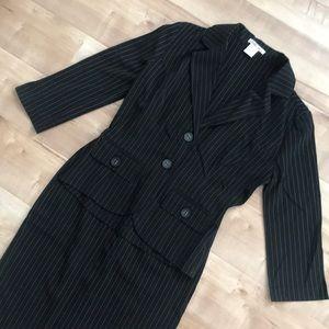 Pinstripe Skirt Suit - 2 piece